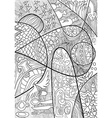 Abstract Line art with doodle and zentagle style vector image vector image