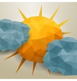 abstract triangle clouds and sun vector image vector image
