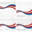 American Flag background for Independence vector image vector image