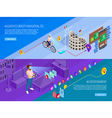Augmented Reality 2 Isometric Banners Set vector image vector image