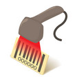 barcode scanner icon isometric 3d style vector image vector image