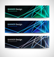 Binary code banners vector image