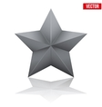 Black five-pointed star vector image