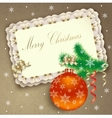Christmas background with banner vector image vector image