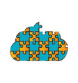cloud puzzle pieces image vector image vector image