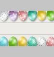 Colorful easter eggs double edge border