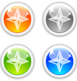 Compass buttons vector image vector image
