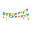confetti background birthday concept vector image
