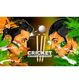 Cricket players of cricket championship vector image