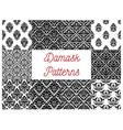 Damask seamless patterns set Floral background vector image vector image
