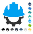 development helmet icon vector image vector image