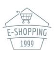 e shopping logo simple gray style vector image vector image