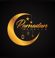elegance ramadan kareem vector image