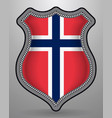 flag of norway badge and icon vector image