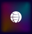 flat paper cut style icon of globe vector image vector image