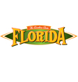 Florida The Sunshine State vector image vector image