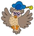 flying owl teacher vector image vector image