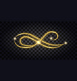 gold glitter flourish design element sith golden vector image