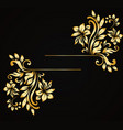 golden luxury style calligraphic design vector image vector image