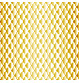golden seamless rhombus pattern vector image