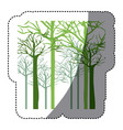 green trees without leaves icon vector image vector image