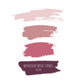 grunge watercolor ink texture set vector image vector image