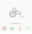 Gymnastic for pregnant icon Pilates fitness vector image