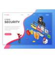 hacker phishing activity isometric concept vector image vector image