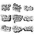 handwritten lettering collection pins vector image vector image