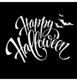 happy halloween message design background vector image vector image