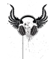 Headphone Emblem vector image
