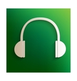 Headphones icon with shadow vector image