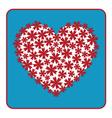Heart floral design vector image vector image