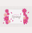 hello spring greeting card decoration vector image vector image