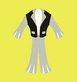 icon in flat design fashion clothes mens suit vector image vector image