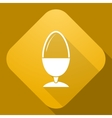 icon of Egg with a long shadow vector image vector image