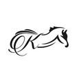 initials horse logo design k vector image vector image