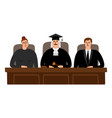 judges court concept vector image vector image