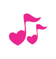 love note music song logo icon vector image vector image