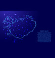 map iceland from the contours network blue vector image
