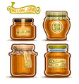 melon jam in glass jars vector image vector image
