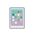 Modern Electronic Tablet Gadget White vector image