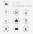 Modern flat icons collection of education theme vector image
