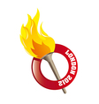 Olympic flame vector image