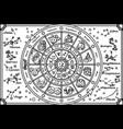 outline cute zodiac circle horoscope vector image