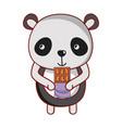panda and food vector image