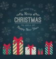 present boxes and greeting text vector image vector image