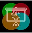 presentation icon vector image vector image