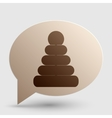 Pyramid sign Brown gradient icon on vector image vector image