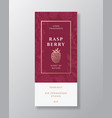 raspberry home fragrance abstract label vector image vector image
